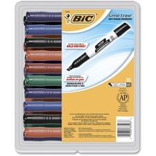 BIC GDEM30ASST Bic Great Erase Grip Chisel Tip Erase Marker BICGDEM30ASST