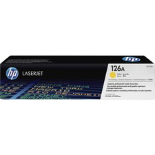 HP 126A (CE312A) Original Toner Cartridge - Single Pack - Laser - Standard Yield - 1000 Pages - Yellow - 1 Each