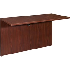 LLR 69390 Lorell Essentials Mahogany Laminate Desking LLR69390