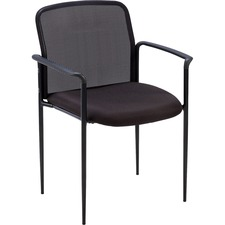 LLR 69506 Lorell Plastic Arms Mesh Back Reception Side Chair LLR69506