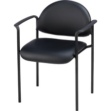 LLR 69507 Lorell Vinyl Reception Side Arm Guest Chair LLR69507