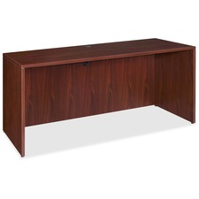 "Lorell Essentials Credenza Shell - 66.1"" x 23.6"" x 29.5"" x 1"" - Finish: Laminate, Mahogany"