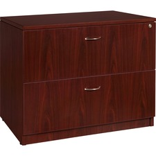 "Lorell Essentials Lateral File - 2-Drawer - 35.5"" x 22"" x 29.5"" x 1"" - 2 x File Drawer(s) - Finish: Laminate, Mahogany"