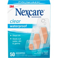 MMM 43250 3M Nexcare Clear Waterproof Bandages MMM43250