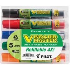 PIL 43917 Pilot BeGreen Refillable VBoard Dry-erase Marker PIL43917