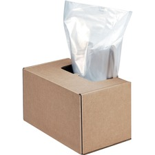 "Fellowes Waste Bags for Fortishredâ""¢ and High Security Shredders - 189.27 L - 50"" (1270 mm) Height x 42"" (1066.80 mm) Width x 42.50"" (1079.50 mm) Depth - 50/Carton - Plastic - Clear"