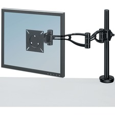 "Fellowes Professional Series Depth Adjustable Monitor Arm - 1 Display(s) Supported21"" Screen Support - 10.89 kg Load Capacity - 1"