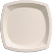 "Solo Cup Bare Sugar Cane Plates - 10"" (254 mm) Diameter Plate - Off White"