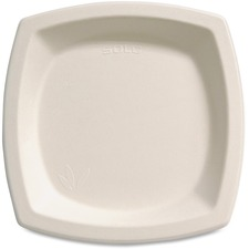 "Solo Cup Bare Sugar Cane Plates - 6.70"" (170.18 mm) Diameter Plate - Off White"