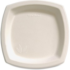 "Solo Cup Bare Sugar Cane Plates - 8.25"" (209.55 mm) Diameter Plate - Off White"