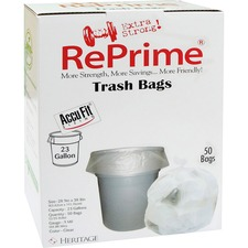 HER H5645TCRC1 Heritage Bag Accufit RePrime Trash Bags HERH5645TCRC1