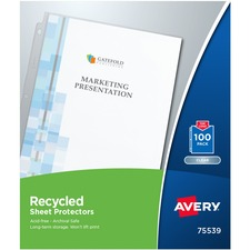 AVE75539 - Avery&reg Recycled Economy Weight Sheet Protectors