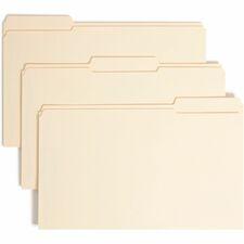 SMD 19555 Smead SafeShield 1/3 Cut File Folders w/Fasteners SMD19555