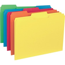 BSN 43561 Bus. Source 1/3-cut Colored Interior File Folders BSN43561
