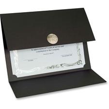 St. James® Recycled Certificate Holder - Linen - Black - 5 / Pack