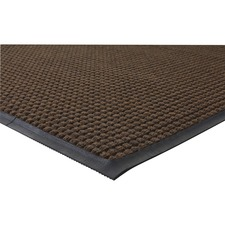 "Genuine Joe Waterguard Wiper Scraper Floor Mats - Carpeted Floor - 72"" (1828.80 mm) Length x 48"" (1219.20 mm) Width - Polypropylene - Brown"