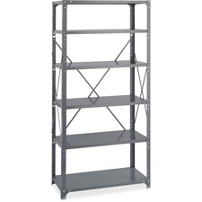 SAF 6270 Safco Dark Gray 6-Shelf Comm. Steel Shelving Kit SAF6270