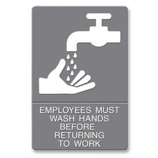 USS 4726 U.S. Stamp & Sign ADA Plastic Wash Hands Sign USS4726