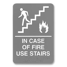 USS 5400 U.S. Stamp & Sign ADA Plastic Fire Use Stairs Sign USS5400