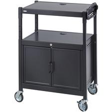 SAF8943BL - Safco Steel Adjustable AV Carts