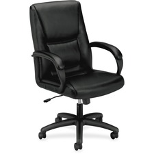 BSX VL161SB11 Basyx VL161 Executive Leather Mid-back Chair BSXVL161SB11