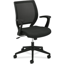 BSX VL521VA10 HON VL521 Mid-Back Fixed Arms Mesh Chair BSXVL521VA10