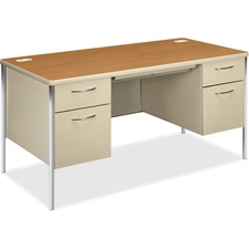 HON 88962CL HON Mentor Srs Harvest Laminate Dble Pedestal Desk HON88962CL