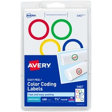 AVE 5407 Avery Color Coding Round Labels AVE5407