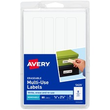AVE 5429 Avery Erasable Labels AVE5429