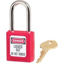 MLK 410RED Master Lock Danger Red Safety Padlock MLK410RED