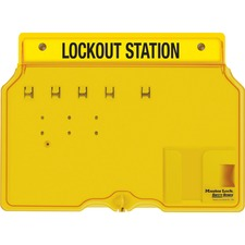 MLK 1482B Master Lock Unfilled Padlock Lockout Station w/Cvr MLK1482B