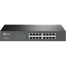 TP-LINK TL-SG1016D 10/100/1000Mbps 16-Port Gigabit 13-inch Rackmountable Switch, 32Gbps Capacity