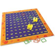 LRN LER1100 Learning Res. Hip Hoppin' Hundred Mat Floor Game LRNLER1100