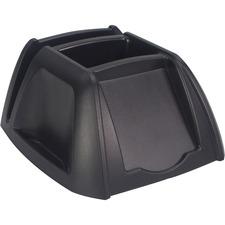 "Storex Desk Organizer - 4"" Height x 6.3"" Width x 6.5"" Depth - Desktop - Durable, Eco-friendly - 100% - Black - Plastic - 1 Each"