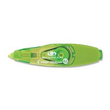 """BeGreen Correction Tape - 0.16"""" (4 mm) Width x 19.7 ft Length - White Tape - Ergonomic Green Dispenser - Refillable, Retractable - 1 Each - Green"""