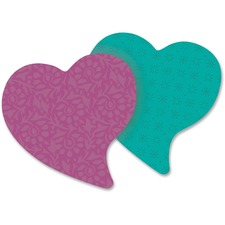 """Post-it® Super Sticky Note Pad - 3"""" x 3"""" - Heart - Assorted - Self-adhesive - 1 / Pack"""