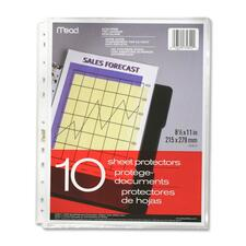 """Hilroy 11-Hole Punched Plain Edge Sheet Protector - For Letter 8 1/2"""" x 11"""" Sheet - Poly - 10 / Pack"""