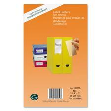 "Greenside Label Holder - 2.10"" (53.34 mm) x 3"" (76.20 mm) x - 8 / Pack - Clear"