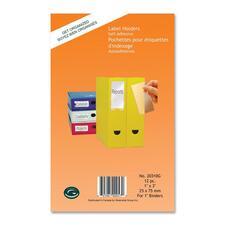 "Greenside Label Holder - 1"" (25.40 mm) x 3"" (76.20 mm) x - 12 / Pack - Clear"
