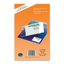 "Greenside Self-Adhesive Business Card Pocket - Support 2"" (50.80 mm) x 3.50"" (88.90 mm) Media - Horizontal, Vertical - 2.38"" (60.33 mm) x 3.75"" (95.25 mm) x - 10 / Pack - Clear"