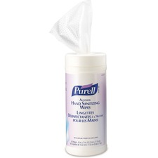 PURELL® Alcohol Formulation Hand Sanitizing Wipe - White - Durable, Textured, Fragrance-free, Dye-free, Non-sticky - For Healthcare - 80 Sheets - 1 Each