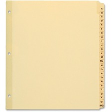 """TOPS Preprinted Tab Divider - Printed Tab(s) - Character - A-Z - 8.50"""" Divider Width x 11"""" Divider Length - Letter - Plastic Tab(s) - 1 / Set"""