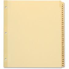 "TOPS Preprinted Tab Divider - Printed Tab(s) - Digit - 1-3 - 8.50"" Divider Width x 11"" Divider Length - Letter - Plastic Tab(s) - 1 / Set"