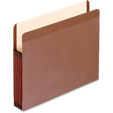 """Pendaflex Legal Recycled Expanding File - 8 1/2"""" x 14"""" - 5 1/4"""" Expansion - Red Fiber - Redrope, Manila - 30% Recycled - 1 Each"""