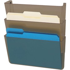DEF 83602 Deflecto 3-Pocket DocuPocket Letter Wall File DEF83602
