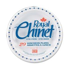 "Royal Chinet Royal Chinet Plate - 8.75"" (222.25 mm) Diameter Plate - White - 40 Piece(s) / Pack"