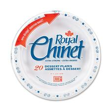 "Royal Chinet Royal Chinet Plate - 6.75"" (171.45 mm) Diameter Plate - White - 20 Piece(s) / Pack"