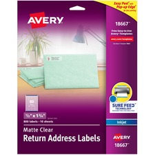AVE18667 - Avery® Matte Clear Easy Peel Address Labels