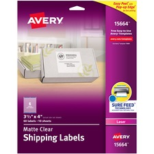 AVE15664 - Avery&reg Matte Clear Easy Peel Shipping Labels