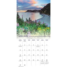 "At-A-Glance Canadian Landscape Wall Calendar - Monthly - 1 Year - January 2018 till December 2018 - 1 Month Single Page Layout - 11"" x 12"" - Wall Mountable - Paper - Bilingual"